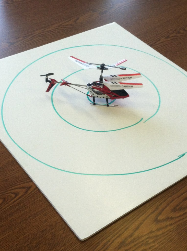 remote control helicopter office challenges
