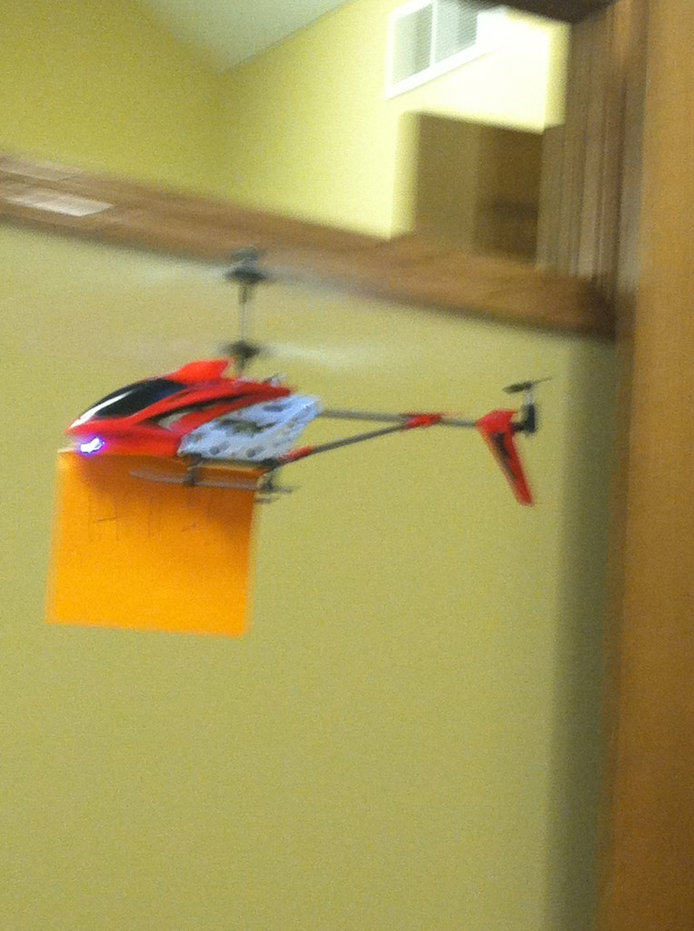 Remote Control Helicopter Message Delivery